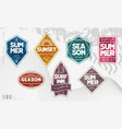 line art geometric summer emblems set vector image vector image