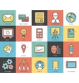 Line icons set of business collection concept vector image vector image