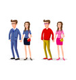 man woman group business office people and casual vector image