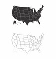 maps of the usa vector image