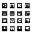 Menu settings tools icons set vector image vector image