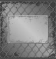 metall plaque vector image