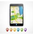 mobile phone navigation set infographics vector image