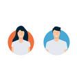 modern avatars man and woman flat design vector image