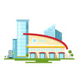 modern building isolated on white background flat vector image vector image