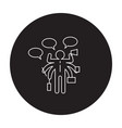 not enough time black concept icon not vector image