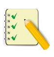 Notebook icon vector image vector image
