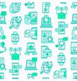 online medicine telemedicine seamless pattern vector image