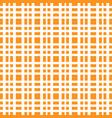 orange grid white lines chess pattern bright vector image