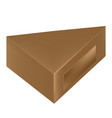 packaging brown triangle packaging box with vector image vector image