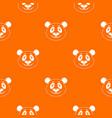panda pattern seamless vector image