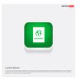 passport icon web green web button vector image