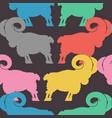 ram pattern flock of sheep ornament farm animal vector image vector image