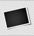 retro realistic photo frame placed horizontally vector image vector image
