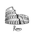 rome colosseum black white vector image vector image