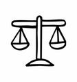 scales freehand vector image