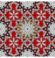 seamless vintage pattern on red colors with vector image vector image