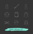 set of garment icons line style symbols with vector image vector image
