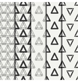 Set of geometric line monochrome abstract hipster vector image vector image
