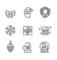 set of transparent xmas icons vector image