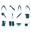 Set of utensil icons vector image vector image