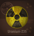 sign of radiation uranium 235 vector image