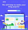 social and digital marketing online dashboard vector image