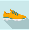 sport sneakers icon flat style vector image