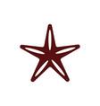 starfish sea life animal isolated icon vector image vector image