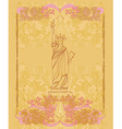 Statue Of Liberty - vintage paper vector image
