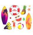 summer beach party banner placard sample vector image vector image