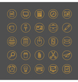 Thin line office icons set vector image
