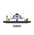 turkey travel location vacation or trip and vector image vector image