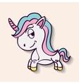 Unicorn horse cartoon design vector image vector image