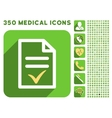 Valid Document Icon and Medical Longshadow Icon vector image vector image