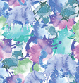 watercolor funny cats pattern vector image vector image