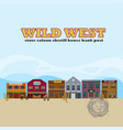 wild west landscape template vector image vector image