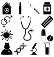 Medical signs set Flat style vector image
