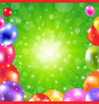 birthday green sunburst poster vector image