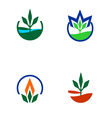 Organic and welfare logo vector image