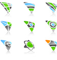 Set of triangle symbols vector image