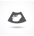 Ultrasound baby icon vector image