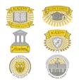 Set of badges labels design elements and vector image