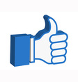 3d thumbs up icon vector image vector image