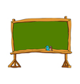 A blackboard is placed vector image vector image