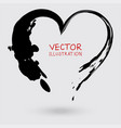 abstract ink heart painted with a brush vector image vector image