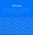 airplane concept with thin line icons vector image vector image