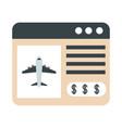 airport website online service travel transport vector image