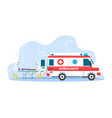 ambulance emergency concept vector image
