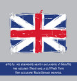 american revolution british flag flat - artistic vector image vector image